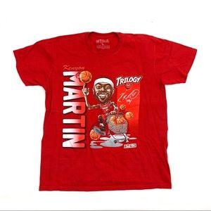 Big 3 Kenyon Martin Red Retro Graphic T-Shirt Sz L